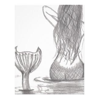 Thoughtful Mermaid Letterhead