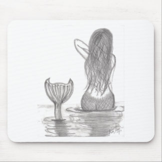 Thoughtful Mermaid Mouse Pad