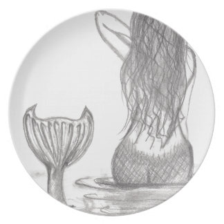 Thoughtful Mermaid Plate
