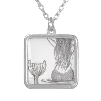 Thoughtful Mermaid Silver Plated Necklace