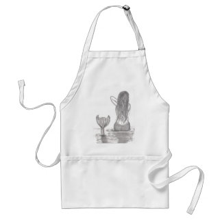 Thoughtful Mermaid Standard Apron