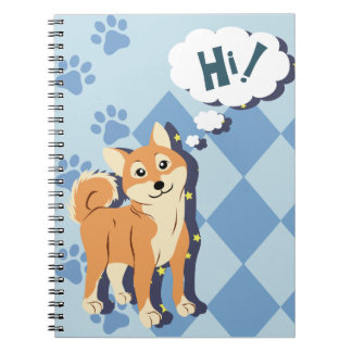 Thoughtful Shiba Inu Notebooks