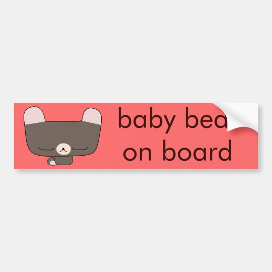 thoughtful teddy bear bumper sticker