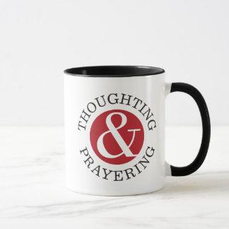 Thoughting & Prayering mug