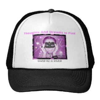 Thoughts And Dreams In Pink Black Hat