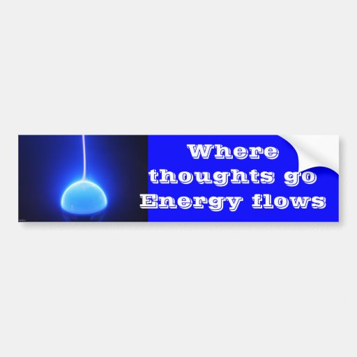 thoughts bumper sticker