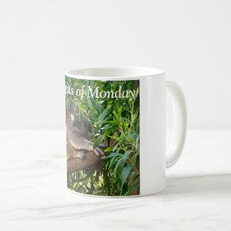 ''Thoughts of Monday'' mug with a cute koala.