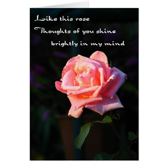 Thoughts Of You Rose Card