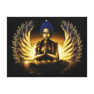 Thousand Arm Buddha - Wrapped Canvas Print XL