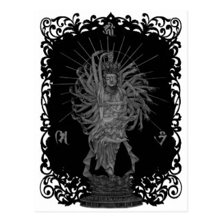 Thousand Armed Goddess of Mercy shie background Postcard