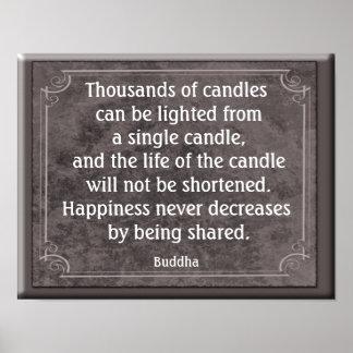 Thousands of Candles - Buddha - Art Print