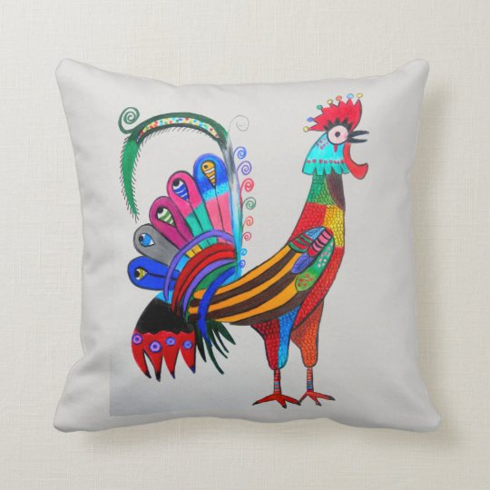 THP - 019 - Rooster Throw Pillow