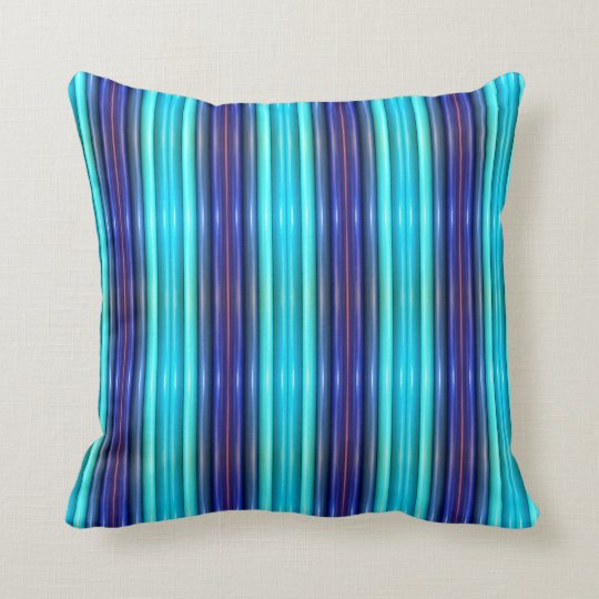 THP - 023 - Blue and Turquoise Throw Pillow