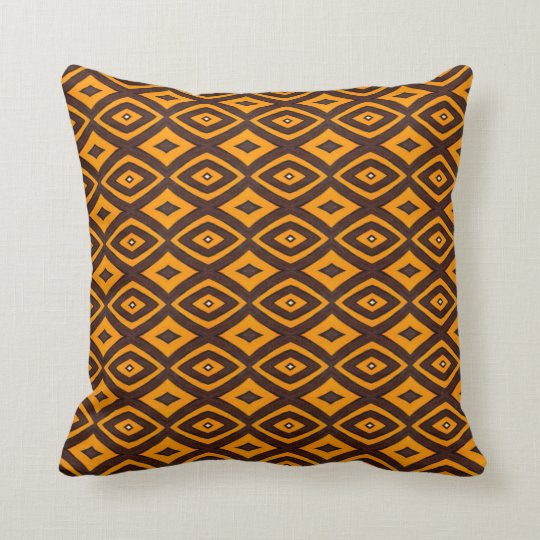THP - 024 - Orange and Brown Throw Pillow