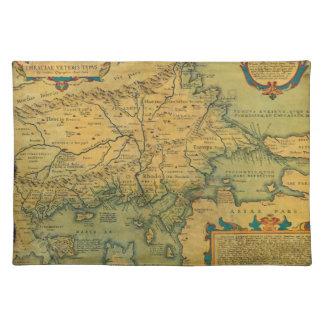 Thraciae Veteris Typvs Map by Abraham Ortelius Placemat