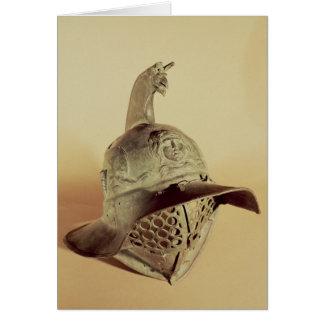 Thracian gladiator's helmet card