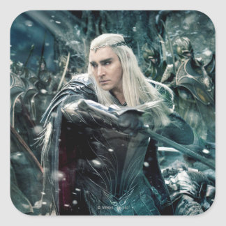 Thranduil In Battle Square Sticker