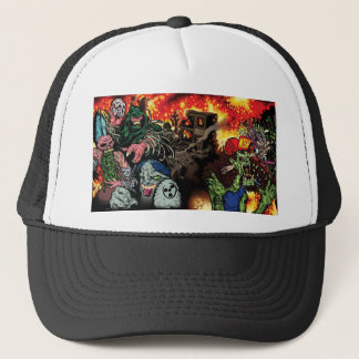 Thrashing Like A Maniac - Trucker Cap with art