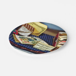 Thread And Pins In General Store Paper Plate