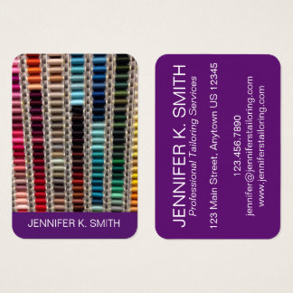 Thread Seamstress Tailor Sewing Fashion Design Business Card