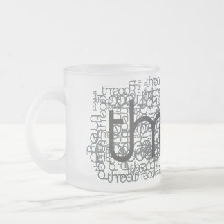 Thread Show 10 Oz Frosted Glass Coffee Mug