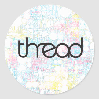 Thread Show Round Sticker