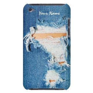 Threadbare - Distressed Blue Jean Denim Barely There iPod Cases