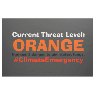 Threat Level Orange Protest Trump Sign Banner Flag Fabric