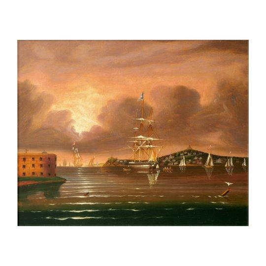 Threatening Sky over New York By Thomas Chambers Acrylic Print