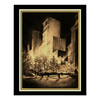 Three A.M: Corner by Madison Square at Night 16x20 Poster