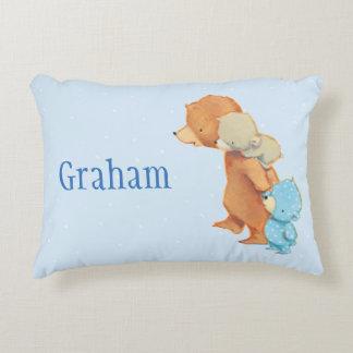 Three Adorable Bear Friends Decorative Pillow