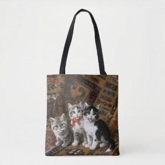 Three Adorable Kittens Custom Tote Bag