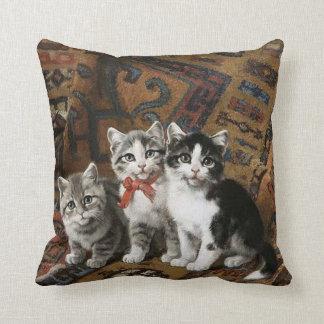 Three Adorable Kittens Throw Pillow
