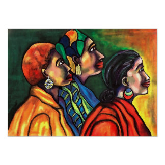Three African American Women Poster