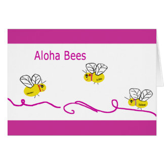 three aloha bees card