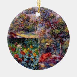 Three amazing masterpieces of Renoir's art Ceramic Ornament