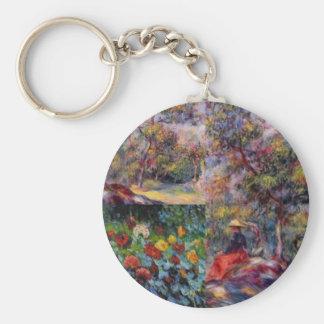 Three amazing masterpieces of Renoir's art Keychain