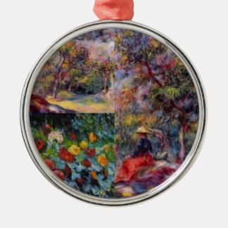 Three amazing masterpieces of Renoir's art Metal Ornament