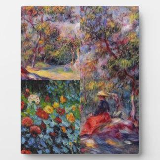 Three amazing masterpieces of Renoir's art Plaque