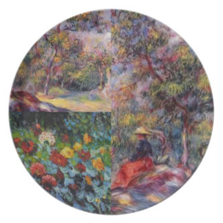 Three amazing masterpieces of Renoir's art Plate