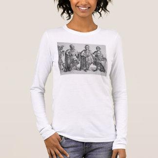 Three American Cherokee Chiefs, 1762 (engraving) Long Sleeve T-Shirt