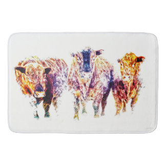Three Amigos Bath Mat Western Bull
