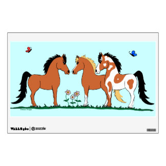 Three Amigos Horse Wall Decal