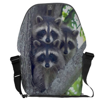 Three Amigos Raccoon Messenger Bag