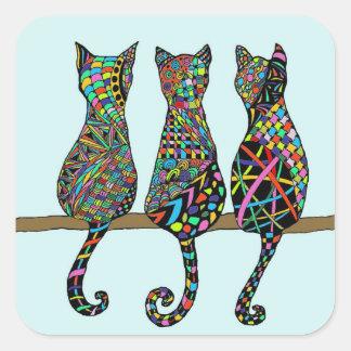 Three Amigos Square Sticker