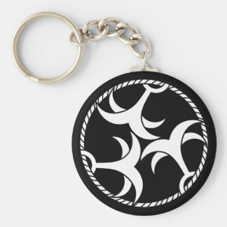 Three anchors with rope keychain