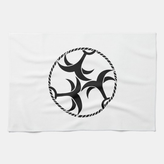 Three anchors with rope kitchen towel