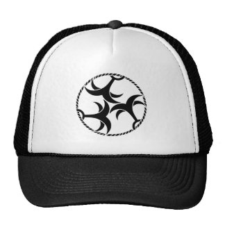 Three anchors with rope trucker hat