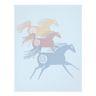 Three Ancient Horses Letterhead
