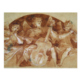 Three Angel Musicians Postcard
